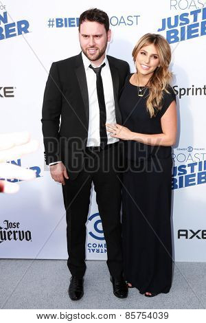 LOS ANGELES - MAR 14:  Scooter Braun, Yael Cohen at the Comedy Central Roast of Justin Bieber at the Sony Pictures Studios on March 14, 2015 in Culver City, CA