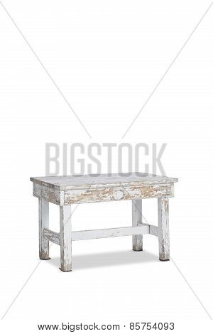 Antique Vintage White Table
