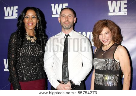 LOS ANGELES - MAR 19:  Yvonne Capehart, Christopher Donaghue, Fran Walfish at the