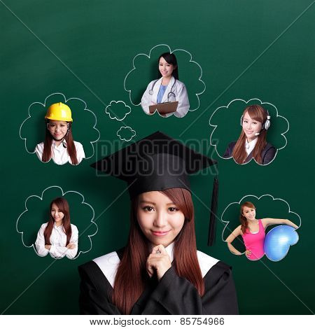 Graduate Student Woman Think Future