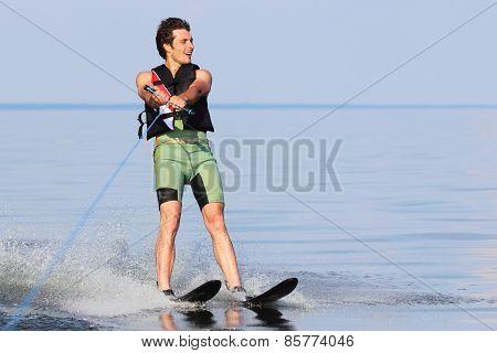 Athlete Waterskiing