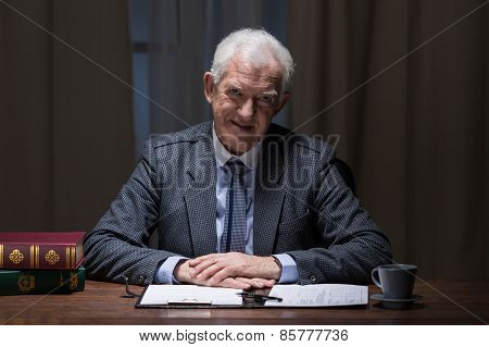 Smiling Senior Businessman
