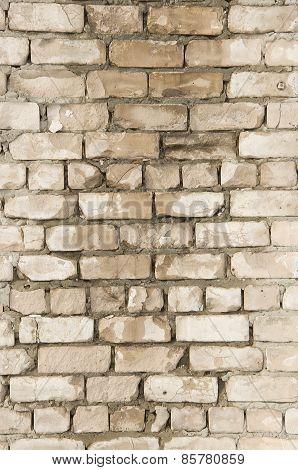 Wet brick wall.