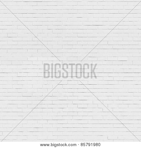 Seamless white brick wall background, texture