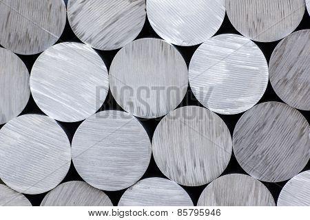 Aluminium rounds abstract