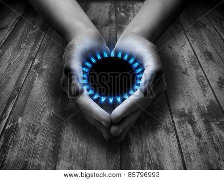 methane in your hands