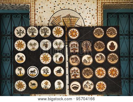 Fragment Of Mosaic Panels With Floral, Animalistic And Architectural Motifs