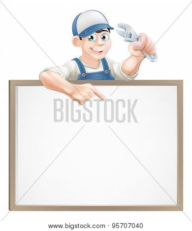 Plumber Or Mechanic Sign
