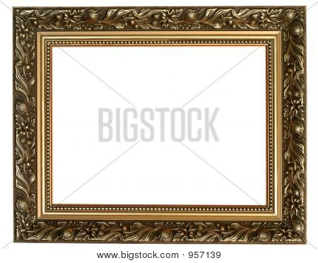 antique frame isolated on pure white background poster