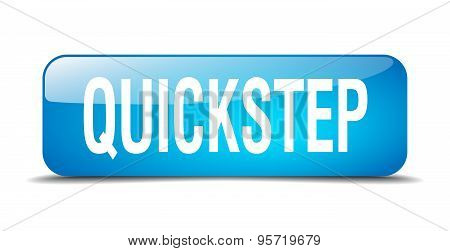 Quickstep Blue Square 3D Realistic Isolated Web Button