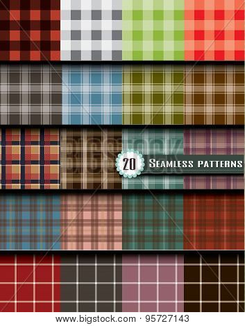 plaid seamless pattern pattern swatches included for illustrator user pattern swatches included in file for your convenient use. poster