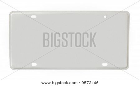 Blank License Plate