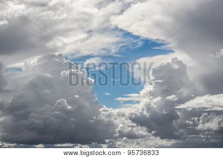 Storm Clouds With Blue Sky