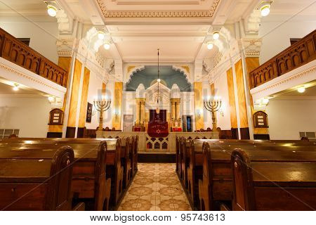 Interior Of Bethlen Teri Synagogue, Budapest