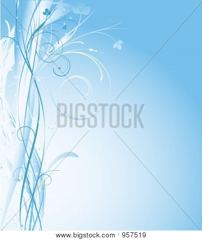 winter themed abstract background with flowing lines poster