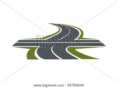 Crossroad symbol for transportation design