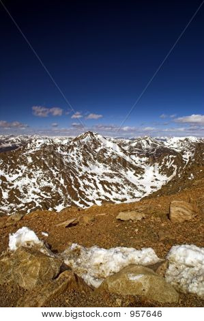 Colorado Mountains And Blue Sky