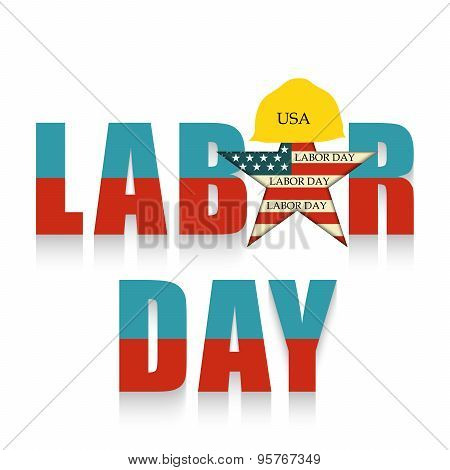 illustration of a colorful stylish text for Labor Day, United States of America. poster