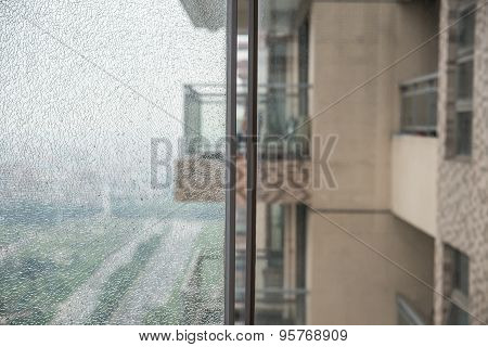 Two Glass Windows With One Broken And One Intact