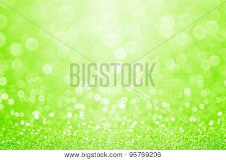 Green Sparkly Glitter Background