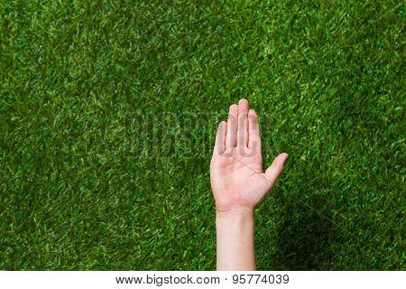 Empty human hand