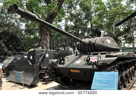 Us Tank Exposed In The War Remnants Museum In Saigon, Vietnam