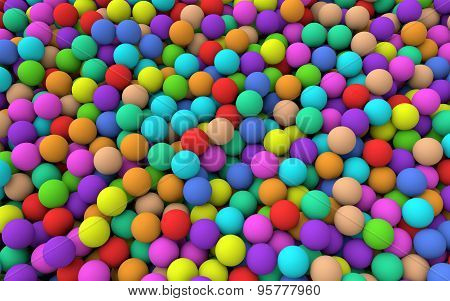 3d Colorful balls background