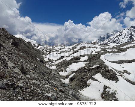 Ngozumba Glacier And Moraine