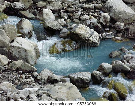 Blue Creek Comming From Ngozumba Glacier