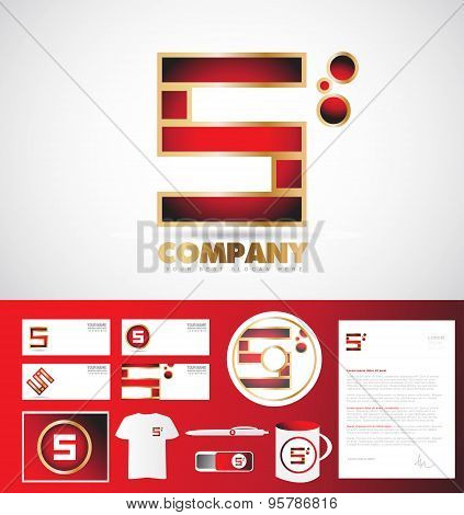 Letter S Logo Corporate Identity Template