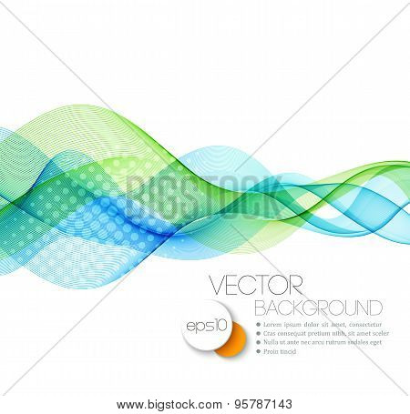 Blue Smooth wave stream line abstract header layout. Vector illustration poster