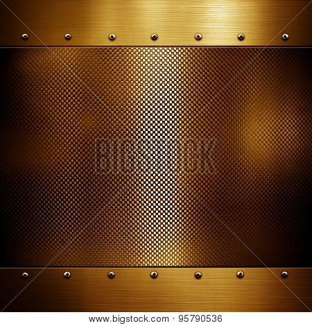 golden metal template background