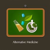 natural alternative medicine homeopathy traditional health way poster