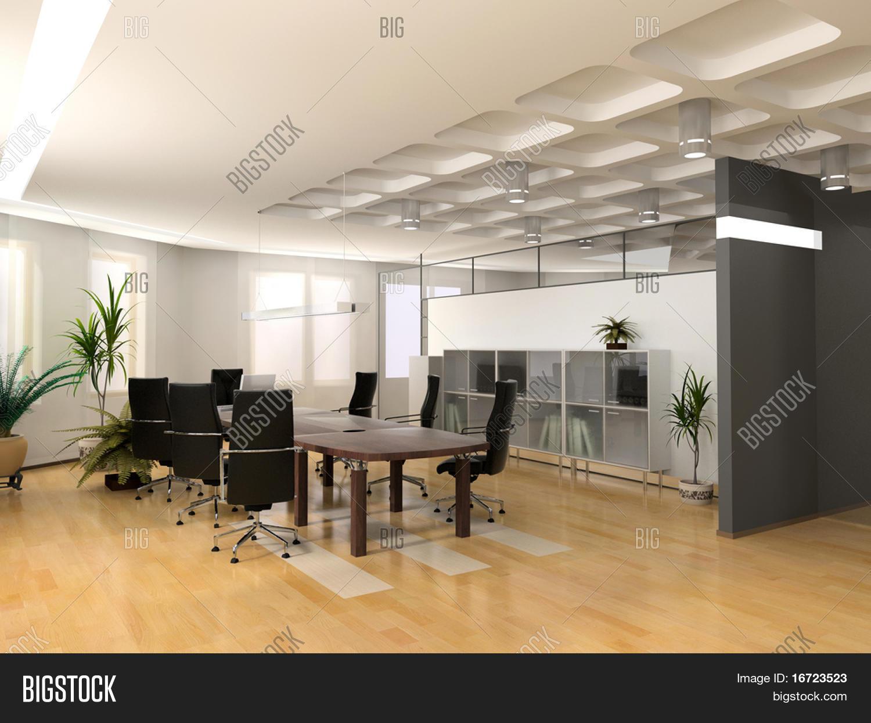 Imagen y foto El Interior De La Oficina Moderna | Bigstock