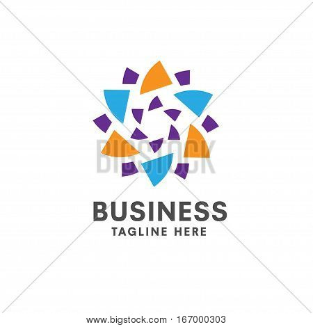 Star sign abstract vector concept illustration. Six-pointed star vector. Vector logo template. Design element.