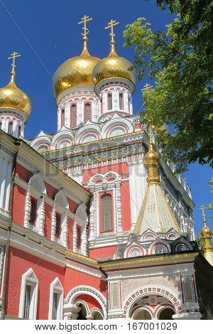 SHIPKA, BULGARIA: Shipka Memorial Church with beautiful architecture