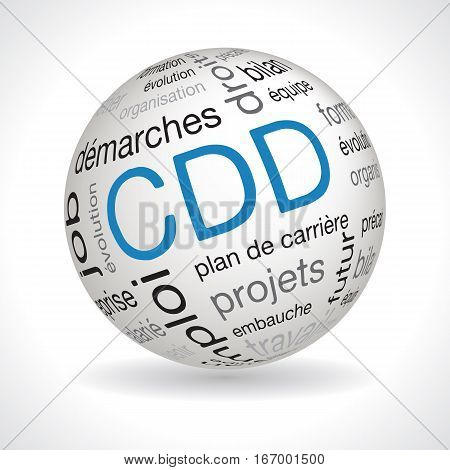 French CDD theme sphere with keywords full vector
