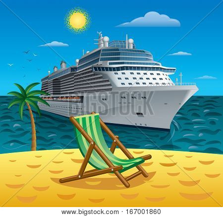 concept illustration of cruise tropical resort and travel on islands
