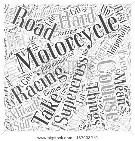 Interested in Supercross Racing Take a Course Word Cloud Concept