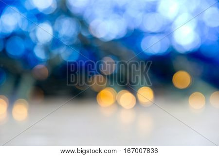 A Christmas background with lights and glitter
