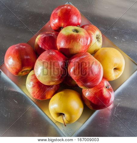 Red apples background nature red, ripe eat, food