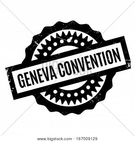 Geneva Convention rubber stamp. Grunge design with dust scratches. Effects can be easily removed for a clean, crisp look. Color is easily changed.