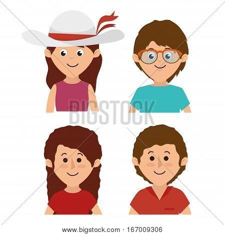 cute family members group vector illustration design