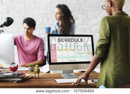 Schedule Duration Punctual Second Minute Hour Concept