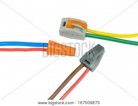 Compact splicing connector isolated on white background