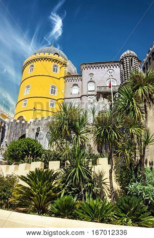 Portugal Pena National Palace. Palacio Nacional da Pena, Sintra