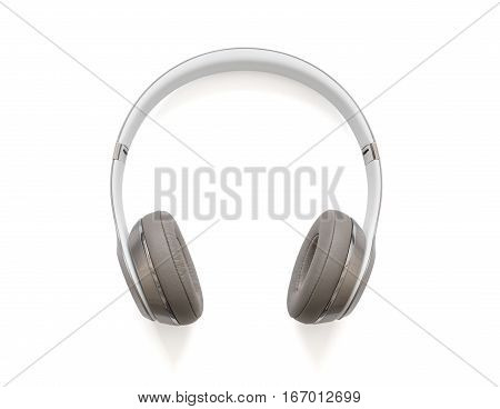Wireless head phones on white isolated  background