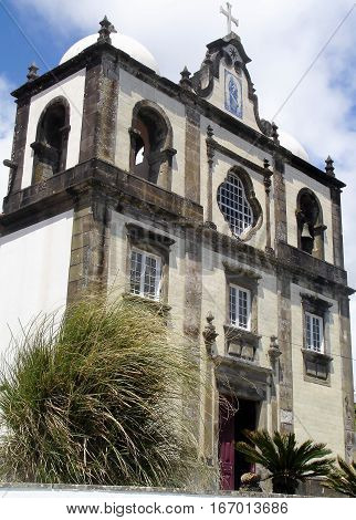 Church of the island of Flores. Azores, Portugal