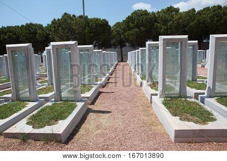 Turkish Military Cemetery in Gallipoli Peninsula,Canakkale, Turkey