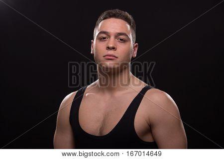 Young Man Looking Badass At Camera